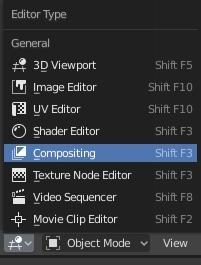 Utiliser le node editor en mode compositing