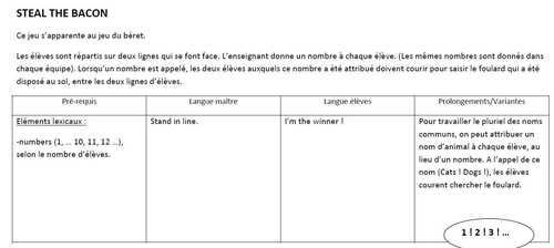"""Lesson 4 : """"Numbers"""" (de 1 à 5)"""