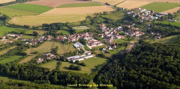 Le Châtillonnais vu du ciel : le canton de Recey sur Ource
