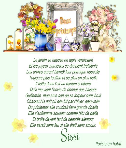 """Poème de Sissi """" Doux printemps"""""""