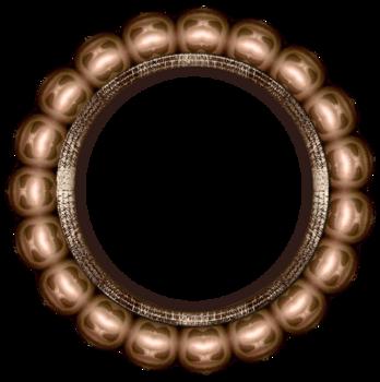 Cadres or série 8, forme fleur