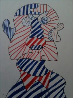 Portrait à la manière de Jean Dubuffet