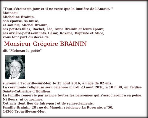 Au revoir Grégoire !.....