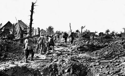 Août 1916, la Bataille de la Somme.