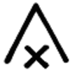 Symbole 2 Mailles Serrées Ecoulées Ensembles