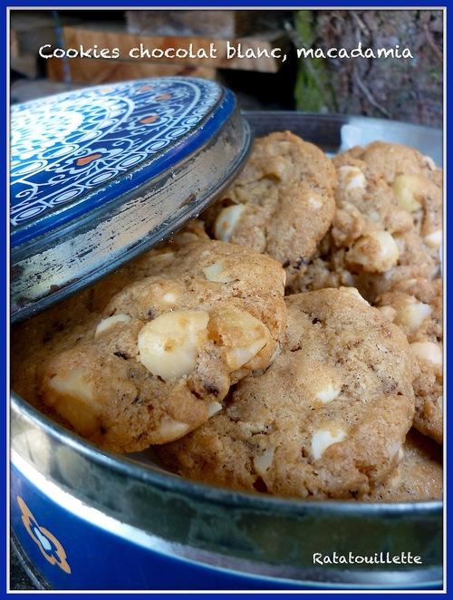 Cookies chocolat blanc, noix de macadamia