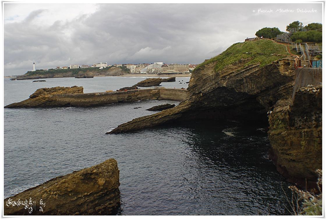 Ciel couvert sur Biarritz