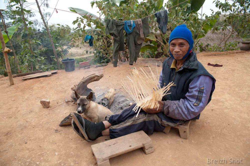 tressage de bambou, luang,namtha