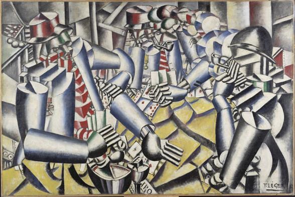 Fernand Léger : La partie de cartes, 1917. Huile sur toile, 129,5 cm x 194,5. Adagp, Paris 2017
