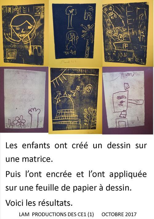 LES ARTISTES DU CE1