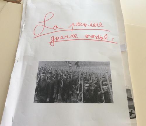 Projet CM2 - un livre sur la première guerre mondiale