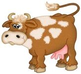 Vache marron miniature