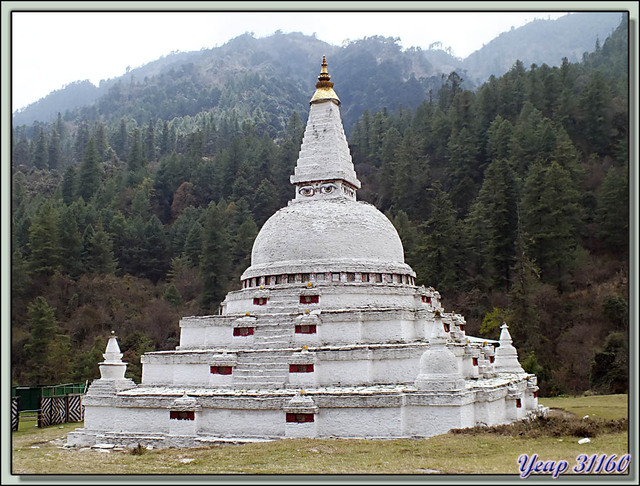 Blog de images-du-pays-des-ours : Images du Pays des Ours (et d'ailleurs ...), Panorama 3D sur Chendebji Chorten - District de Trongsa - Bhoutan