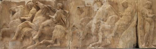 Le musée de l'Acropole : les frises du Parthénon