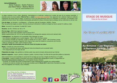 Stage Flute de Pan et Chant Forcalquier 2017