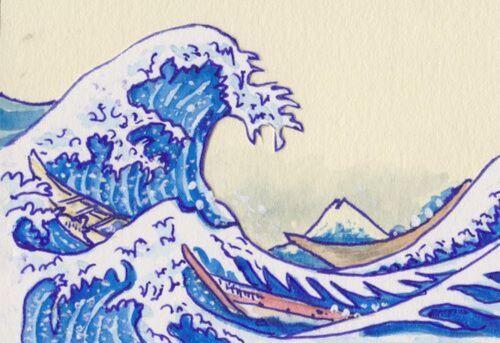 à la manière d'Hokusaï