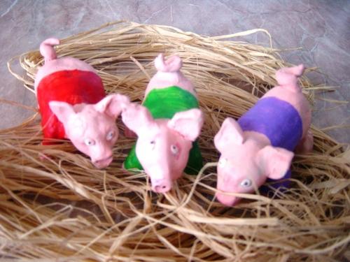 Les volumes, les 3 petits cochons
