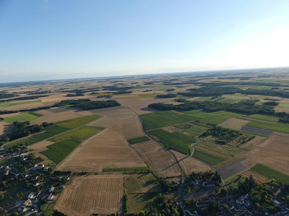 Vol en montgolfière : vues du ciel...