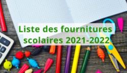 Listes des fournitures 2021-2022