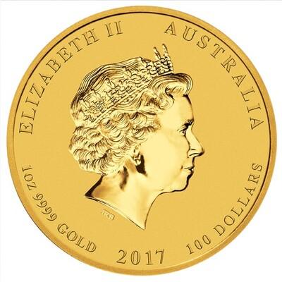 AUSTRALIE SERIE DE PIECES OR ET ARGENT ASTROLOGIE CHINOISE 2017 ANNEE DU COQ