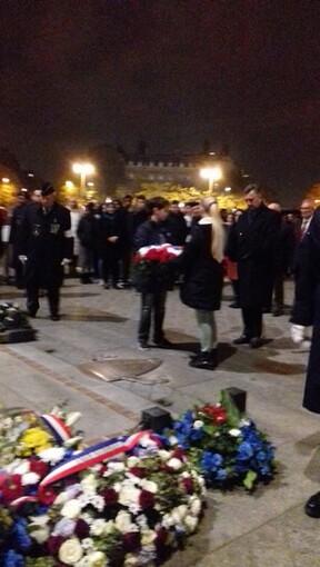 * Commémoration de la création de l'Ordre de la Libération à l'Arc de Triomphe