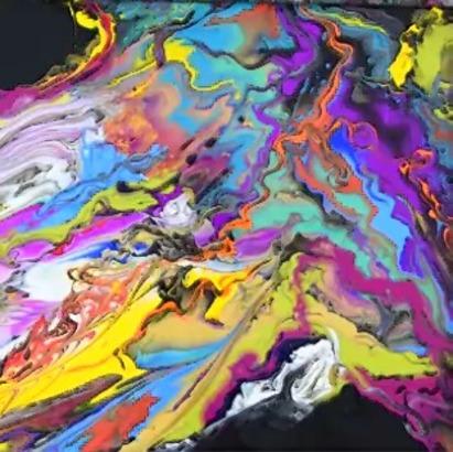 2540 La peinture fluide au floetrol - Peinture abstraite.