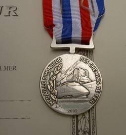 Médaille d' honneur des chemins de fer
