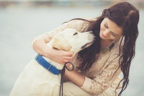 femme chien