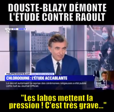 Philippe Douste-Blazy dénonce l'article truqué du Lancet !
