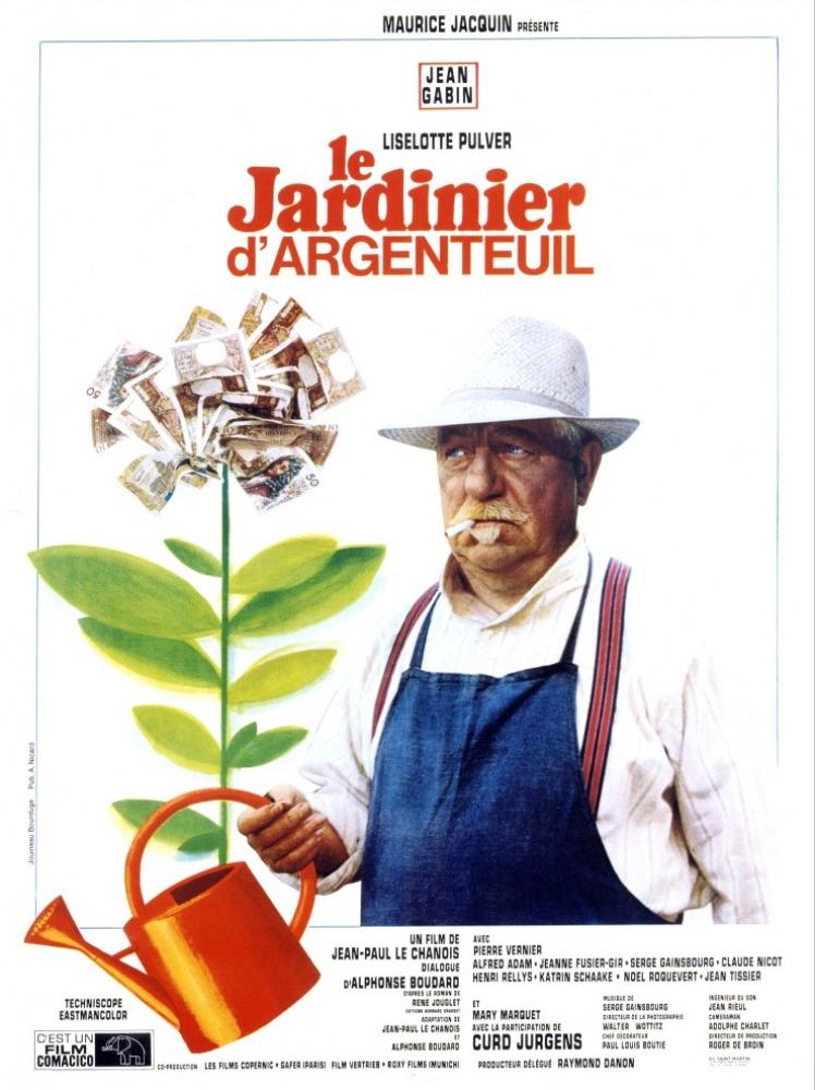 Le jardinier d 39 argenteuil box office jean gabin 1966 for Le jardinier