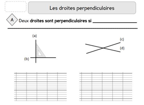 géométrie CM1 leçon 2