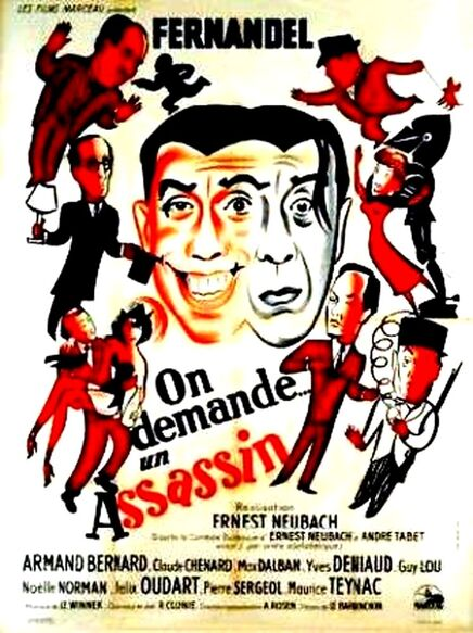 ON DEMANDE UN ASSASSIN - BOX OFFICE FERNANDEL 1949