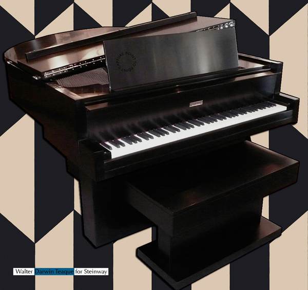 Steinway piano,art-deco, Walter Darwin-Teaque, Point-to-Point-Studio