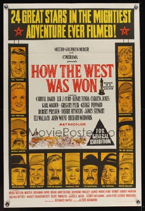 HOW THE WEST WAS WON REISSUE BOX OFFICE USA 1964