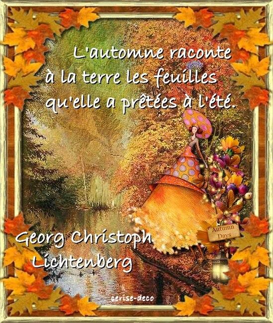 citation illustrée : l'automne