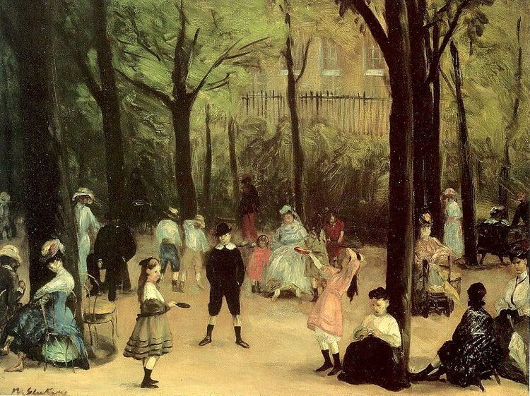 William  Glackens. Jardin du Luxembourg.