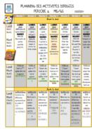 Planning des activités dirigées P2 2020