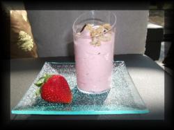 Mousse de fraises à la menthe