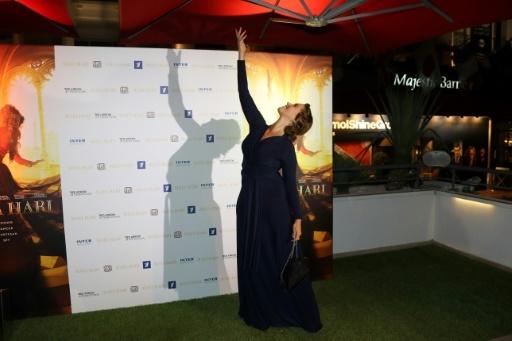 """L'actrice française Vahina Giocante au MIPCOM à Cannes pour la présentation de la série télévisée """"Mata Hari"""", le 16 octobre 2016 © VALERY HACHE AFP/Archives"""