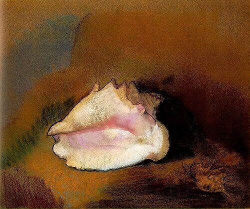 Le coquillage rose - Odilon Redon