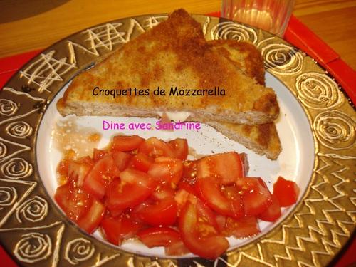 Des Croquettes de Mozzarella