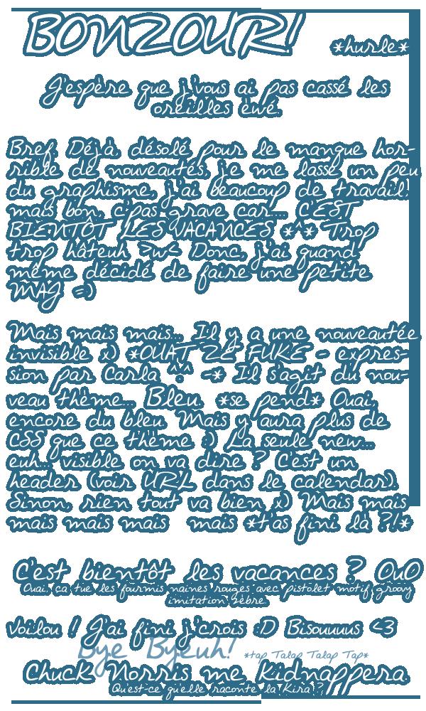 ~ Lorsque bleu rime avec newseuh ~ //PAAN//