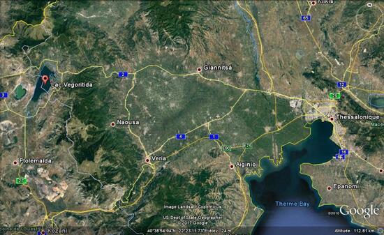 Arnissa : le lac de Vegoritida