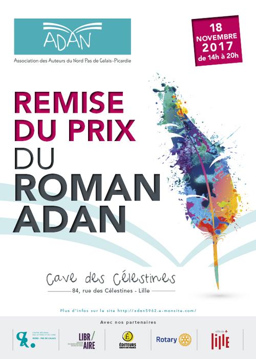 Remise du prix du roman ADAN le 18 novembre 2017