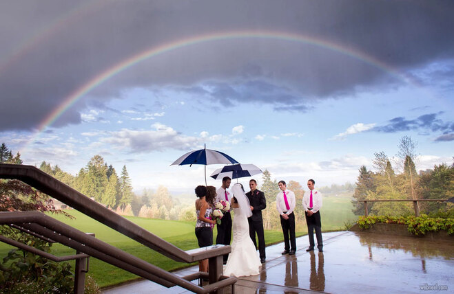 rain photography wedding