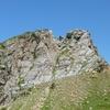 Du col de Mourgat, la cheminée qui donne accès au sommet