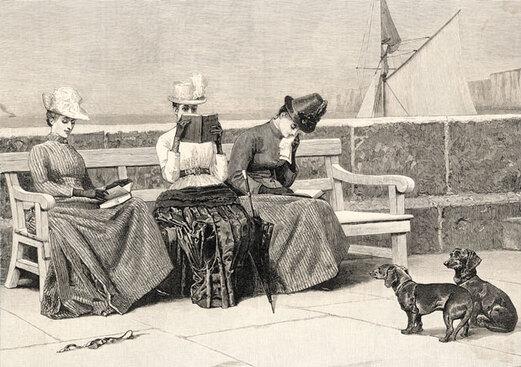 7- Les femmes lisant- dessins et illustrations