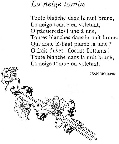 La neige tombe (Jean Richepin)