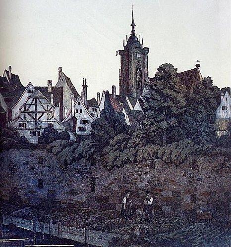Colmar : le mur d'enceinte de la ville