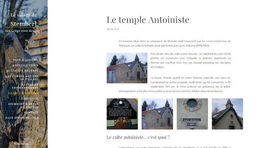Verviers blog - temple Antoiniste de Stembert